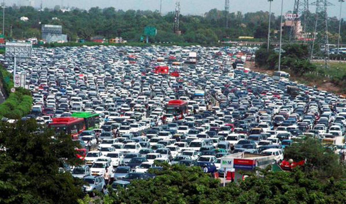Traffic Jam in India